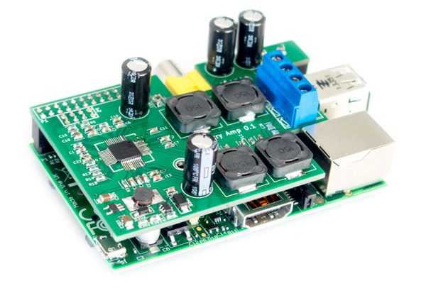 HiFiBerry AMP, 2x25W Class-D amplifier for the Raspberry Pi