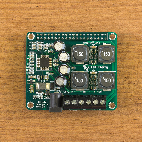 HiFiBerry AMP+ - 25W digial audio amplifier for the Raspberry Pi