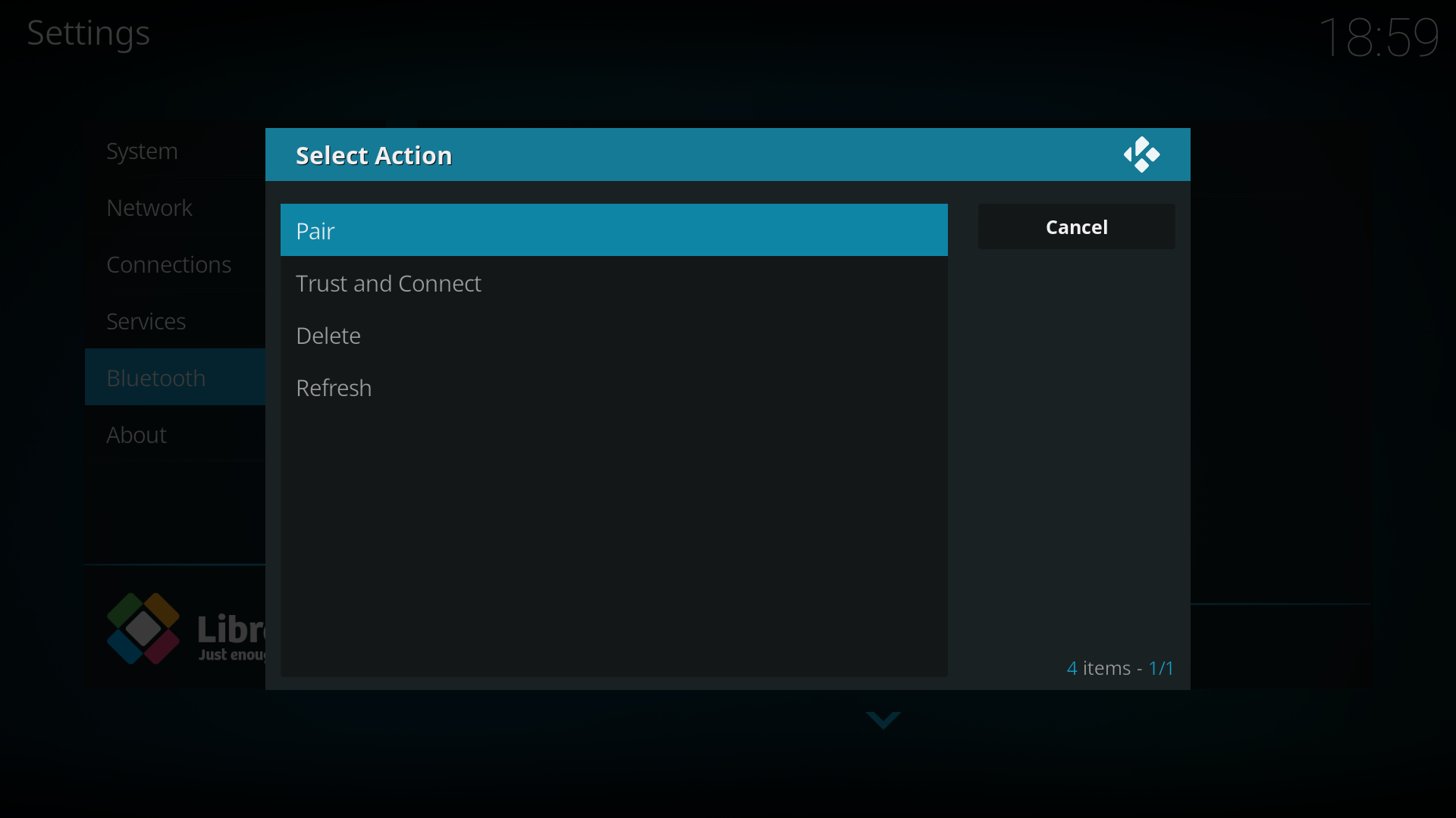 Connecting an Amazon Echo (via Bluetooth and LibreElec